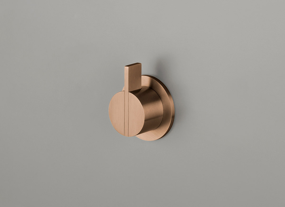 COCOON PB01 Wall mounted mixer - raw copper