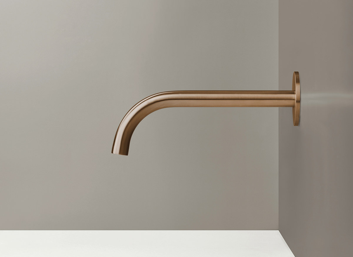 COCOON PB10 Wall mounted spout - raw copper