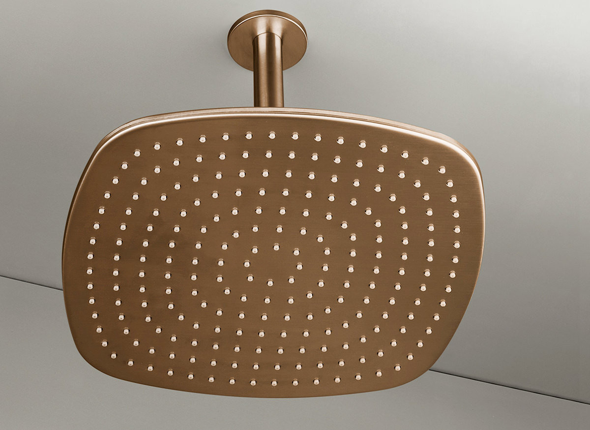 COCOON PB31 Ceiling mounted rain shower - raw copper