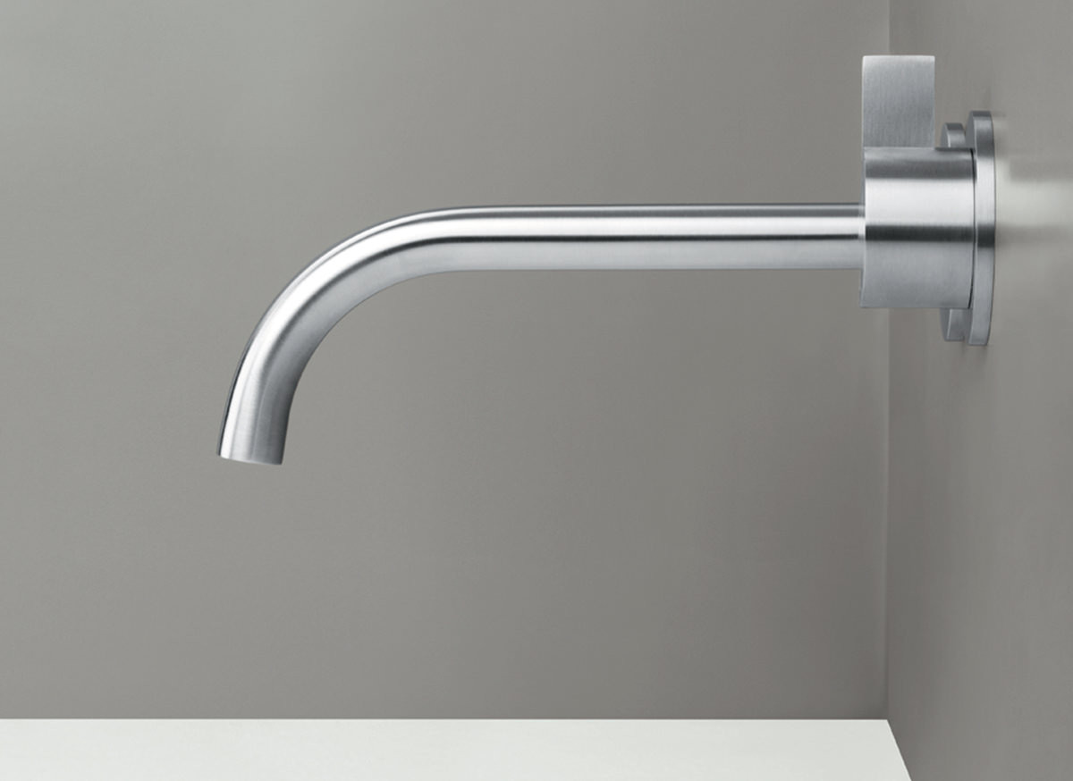 PB SET01 wall mounted basin mixer and spout