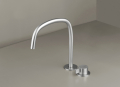 COCOON PB SET11 Deck mounted basin mixer with swivel spout - stainless steel