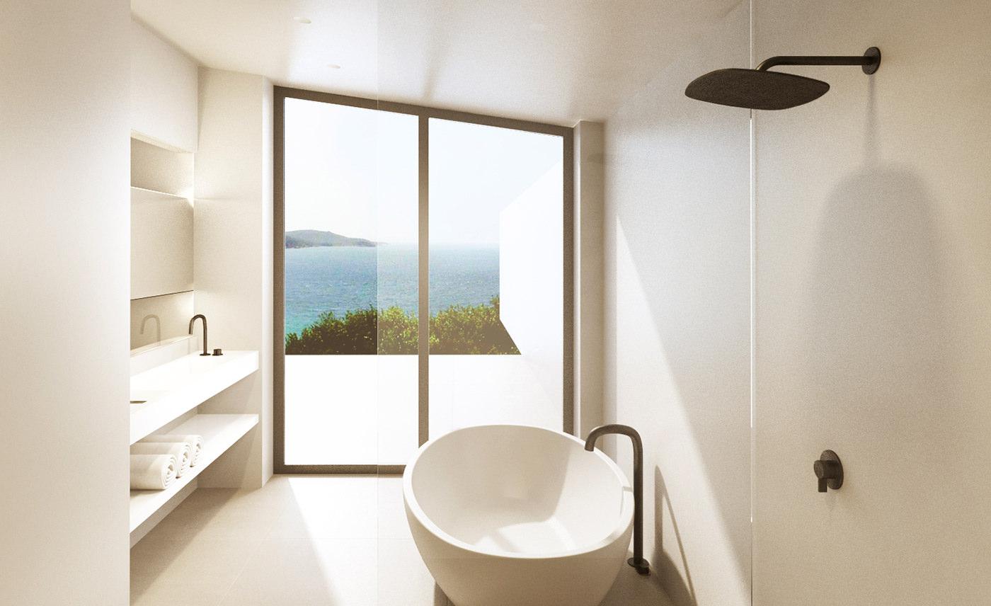 Black Taps Bathroom Ibiza Seafront Villa Bycocoon