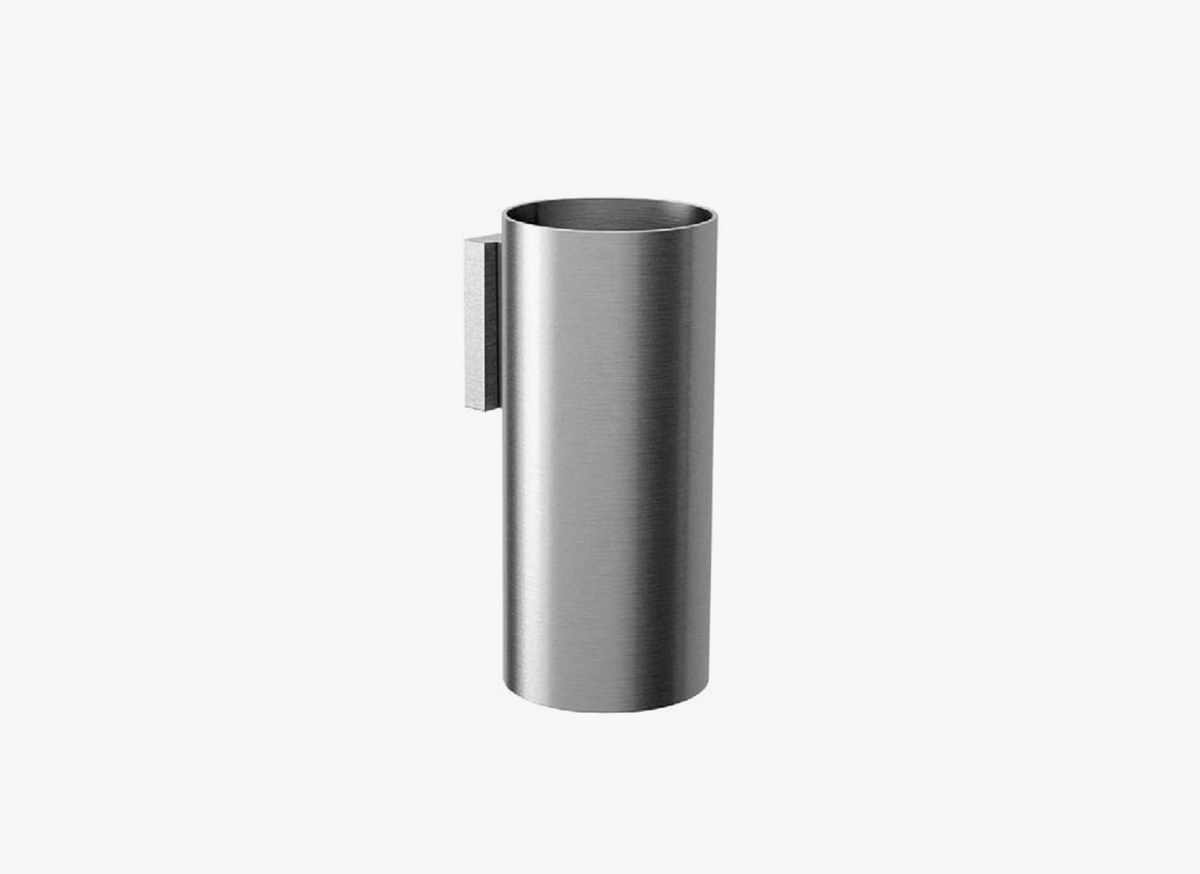 Cocoon mono 56 design glass holder bycocoon for Stainless steel bathroom accessories