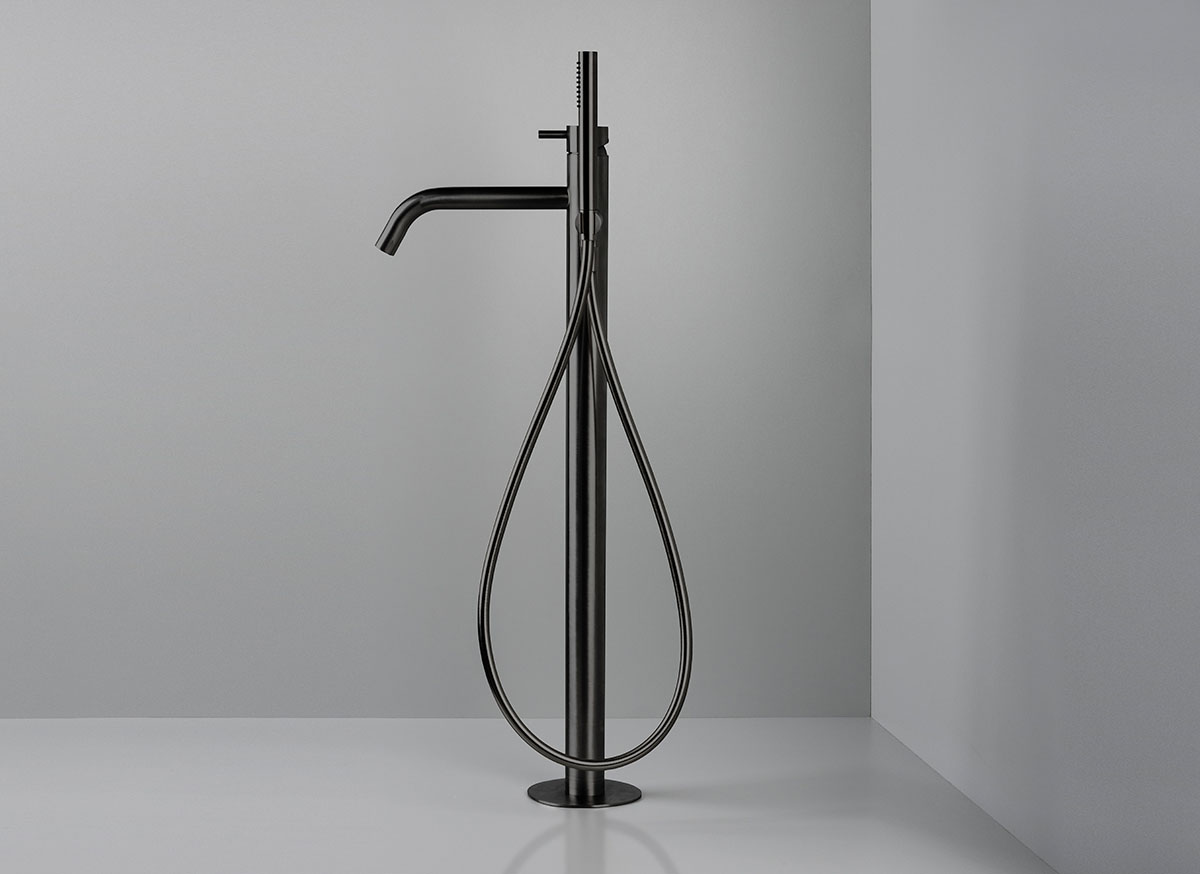 Cocoon Mono 40 Floor Mounted Bath Mixer With Hand Shower