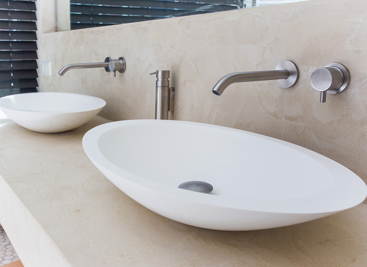 COCOON MONO SET02 Wall mounted basin mixer with spout - Bycocoon