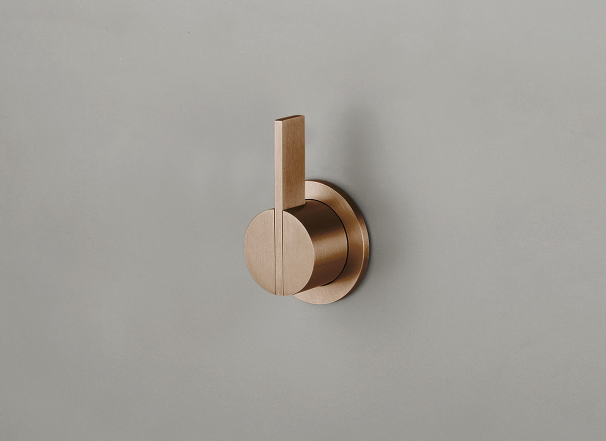 COCOON PB02 Wall mounted mixer with long lever - raw copper