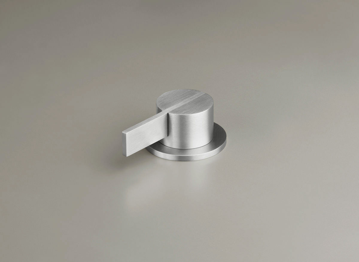 COCOON PB05 Deck mounted mixer with long lever - stainless steel