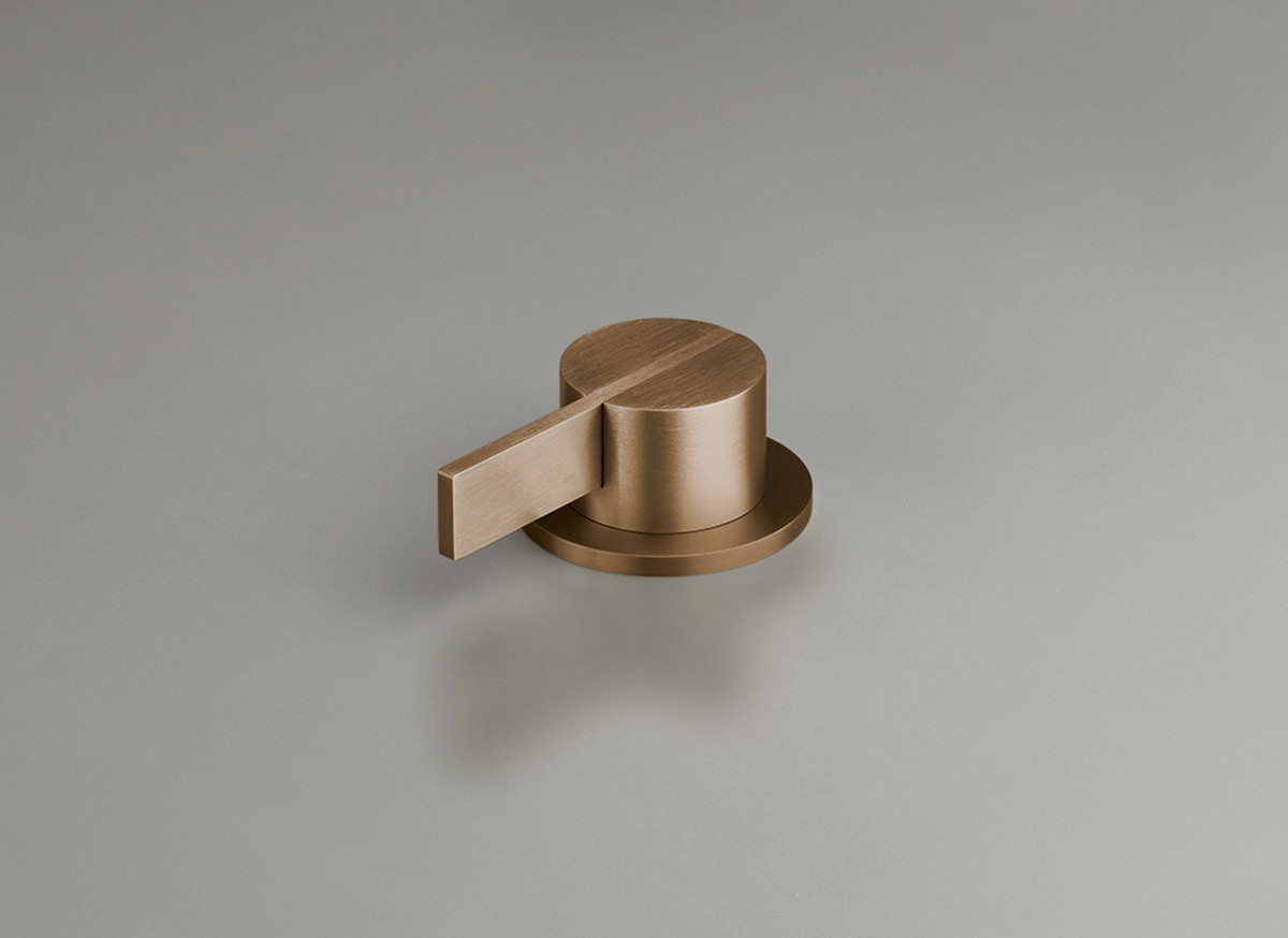 COCOON PB05 Deck mounted mixer with long lever - raw copper