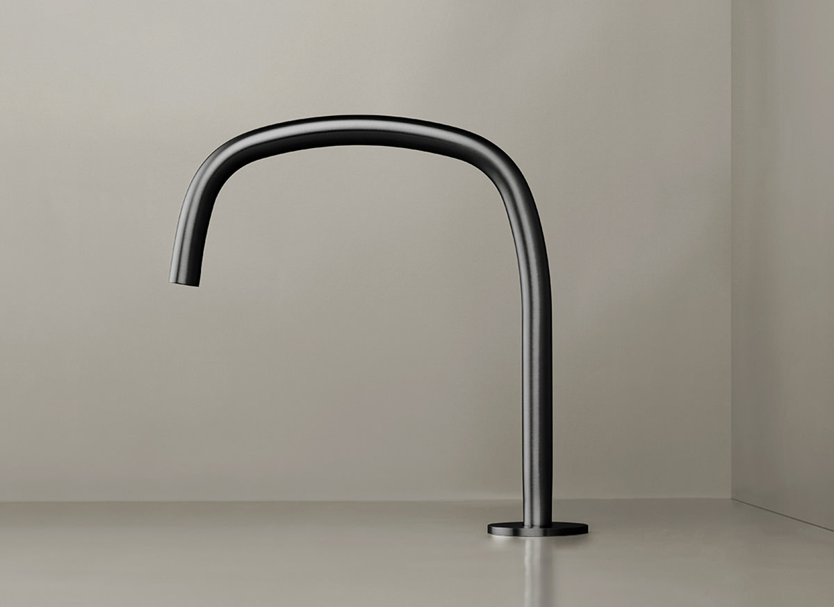 COCOON PB11 Deck mounted spout - gunmetal black