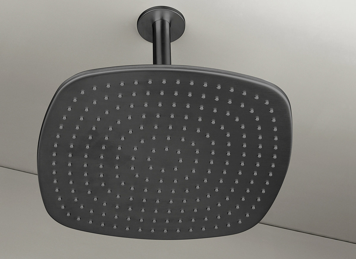 COCOON PB31 Ceiling mounted rain shower - gunmetal black