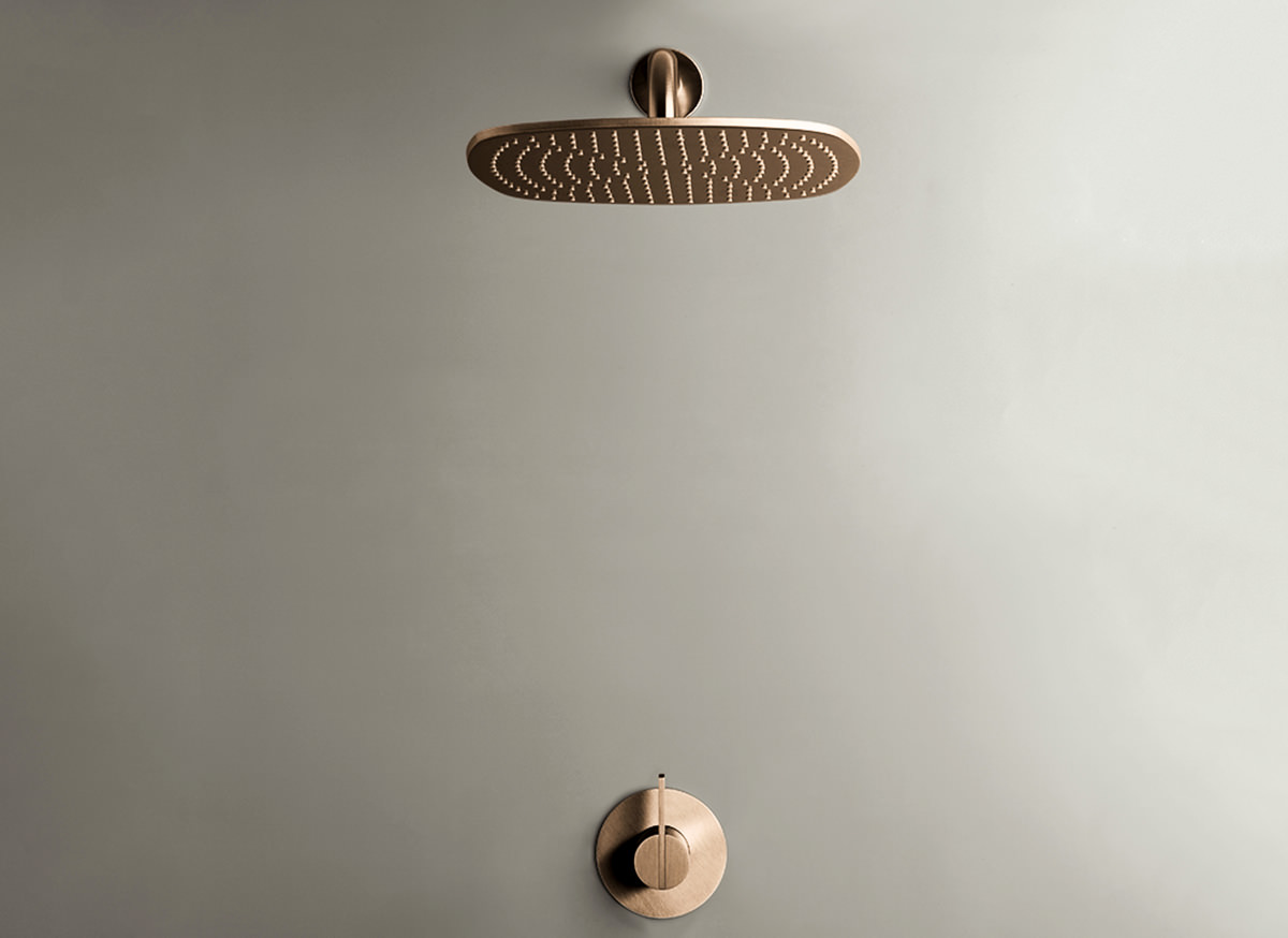 COCOON PB SET21 Rain shower set - raw copper