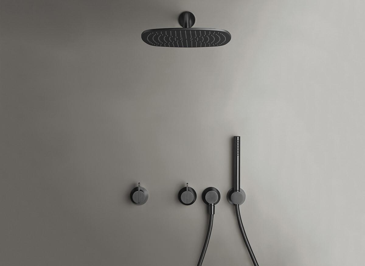 Serie de douche pluie COCOON PB SET21 - bronze noir