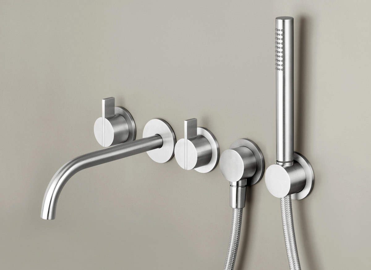 COCOON PB SET31 Wall mounted complete bath set - stainless steel