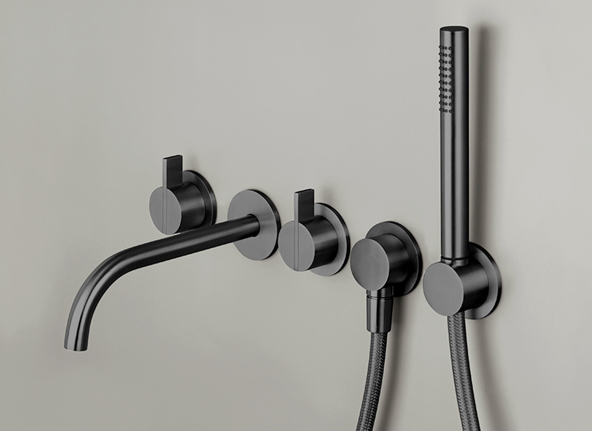 COCOON PB SET31 Set de bain complet mural - gun metal black