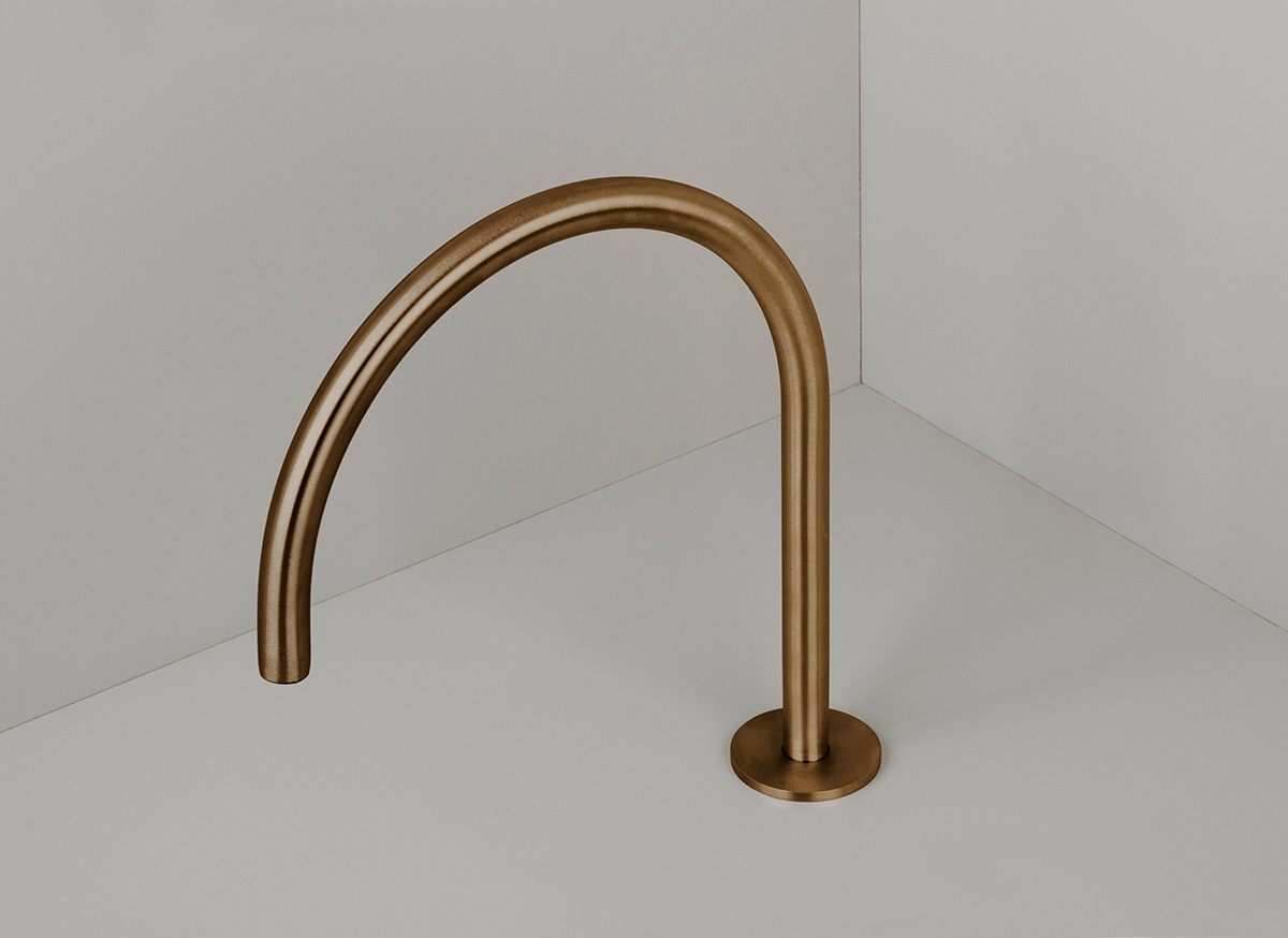 Cocoon Pb12 Deck Mounted Swivel Spout Copper Bycocoon