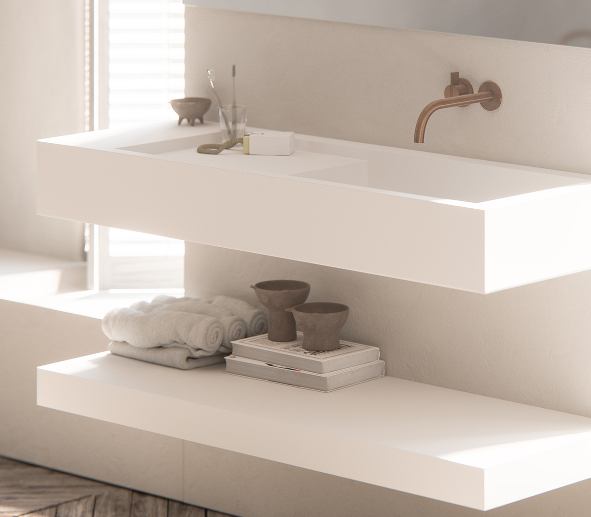 Solid Bath & Basins