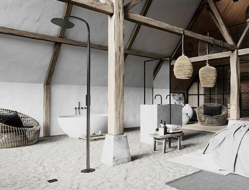 COCOON añade una nueva ducha exterior independiente a la colección Piet Boon