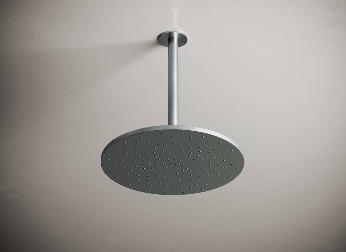 Jp 31 Ceiling Mounted Rain Shower 300mm Brushed Steel